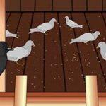 Галка и голуби - Толстой Л.Н. Басня про галку, притворившуюся голубем.