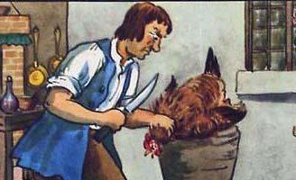 Курица и золотые яйца — Толстой Л.Н. Басня про жадного хозяина курицы.