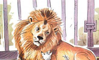 Лев и собачка — Толстой Л.Н. Рассказ про дружбу льва и маленькой собачки