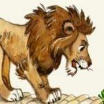 Лягушка и лев - Толстой Л.Н. Басня про трусливого льва.