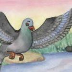 Муравей и голубка - Толстой Л.Н. Басня муравей помог голубке.