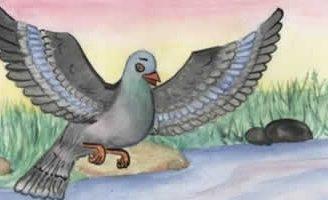 Муравей и голубка — Толстой Л.Н. Басня муравей помог голубке.