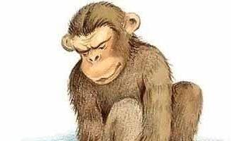 Обезьяна и горох — Толстой Л.Н. Басня про обезьяну, несшую горох.