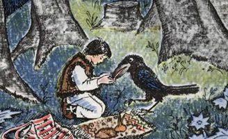 Про бедного человека и Вороньего царя — украинская народная сказка.