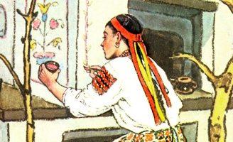 Старикова дочка и старухина дочка — украинская народная сказка.