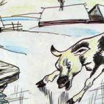Теленок на льду - Толстой Л.Н. Басня про теленка, познающего мир.