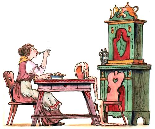 Горшочек каши - Братья Гримм Сказка про девочку и волшебный горшочек