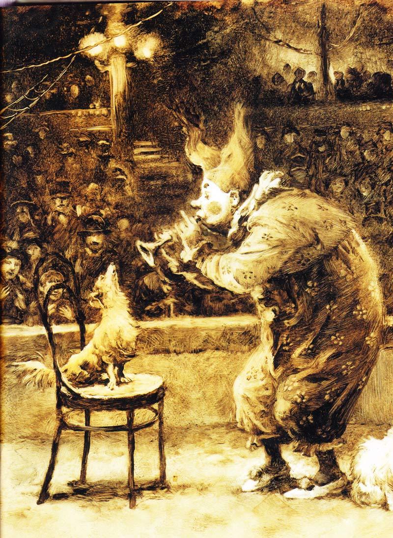 Каштанка в иллюстрациях Натальи Демидовой