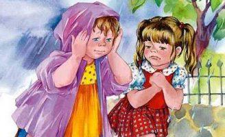 До первого дождя — Осеева В.А. Рассказ про двух подружек.