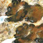 Мишки - Чарушин Е.И. рассказ про двух медвежат, растущих в деревне.