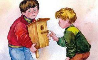 Просто так — Осеева В.А. Рассказ про двух друзей и про подарки.