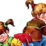 Синие листья - Осеева В.А. Рассказ про двух школьных подружек.