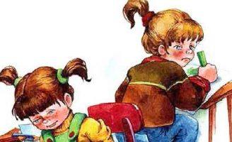 Синие листья — Осеева В.А. Рассказ про двух школьных подружек.