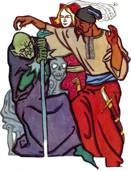 Сказка про Кощея-бессмертного, Ивана-царевича и Булата-молодца - украинская народная сказка