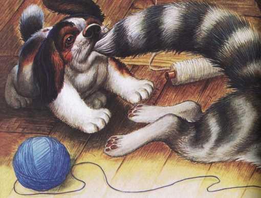Как поссорились кошка с собакой - Пришвин М.М.