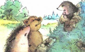 Это чей холм? — Козлов С.Г. Сказка про Ежика, Медвежонка и Крота. 5 (1)