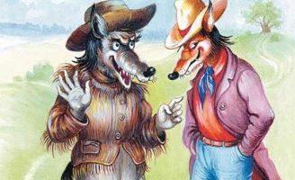 Неудача Братца Волка — Харрис Д.Ч. Как Лис и Волк ловили Кролика.