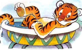 Про тигренка, любившего принимать ванну — Биссет Д. Сказка про тигренка