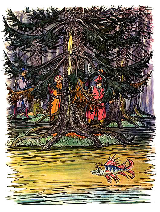 Синяя свита навыворот шита - белорусская народная сказка