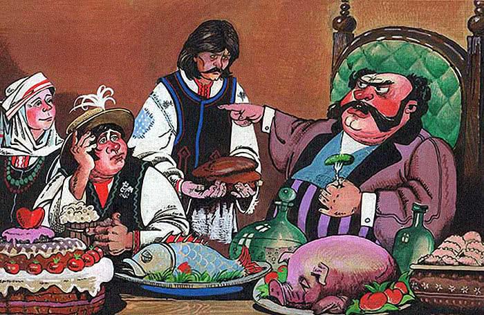 Жадный богатей - белорусская народная сказка