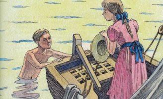 Белый домик — Житков Б.С. Рассказ об опасном приключении детей.