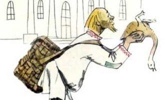 Как мужик гусей делил — Толстой Л.Н. Сказка про мужика и барина.