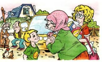 На даче у бабушки — Житков Б.С. Рассказ про Алешу и бабушку.