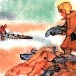 На льдине - Житков Б.С. Рассказ про рыбаков, которых унесло на льдине.