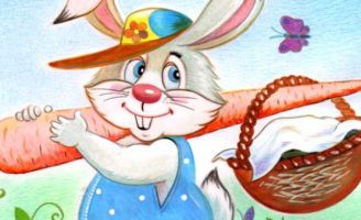 Находчивый зайчишка — Малышев М.И. Как зайчишка к бабушке шел.