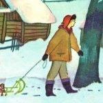 Подснежники - Коваль Ю.И. Рассказ про то, как под снегом грибы нашли.