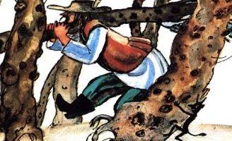 Дровосекова краюшка — литовская сказка. Про мужика и чертенка.