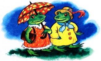 Две лягушки — Пантелеев Л. Как две лягушки угодили в горшок.