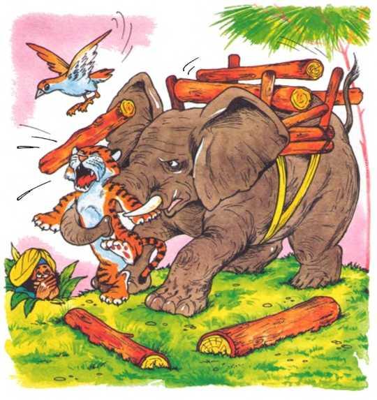 Как слон спас хозяина от тигра - Житков Б.С.