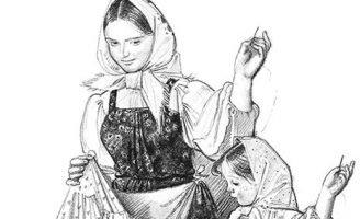 Как тётушка рассказывала о том, как она выучилась шить — Толстой Л.Н.