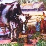 Корова - Толстой Л.Н. Рассказ про бедную семью и корову.
