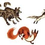 Кошка и лисица - Толстой Л.Н. Как кошка и лиса спасались от собак.