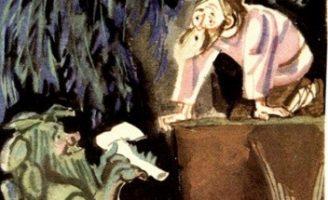 Мужик и водяной — Толстой Л.Н. Басня про честного мужика.