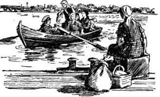 На ялике — Пантелеев Л. Рассказ про переправу на ялике.