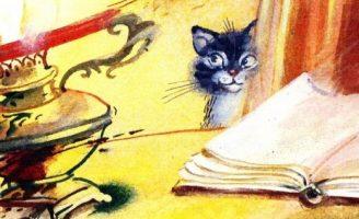 О чем думал котенок — Абрамцева Н. Сказка про котенка и лампу.