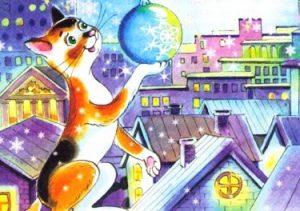 Самая главная снежинка - Абрамцева Н. Сказка про кошку и снежинку.