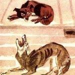 Собака и волк - Толстой Л.Н. Как собака волка перехирила.
