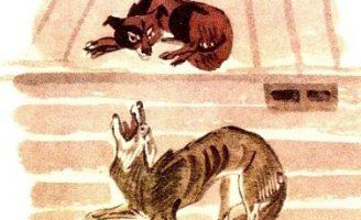 Собака и волк — Толстой Л.Н. Как собака волка перехирила.