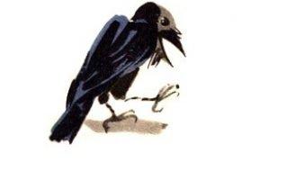 Ворон и лисица — Толстой Л.Н. Бвсня Эзопа в переводе Толтого Л.Н.
