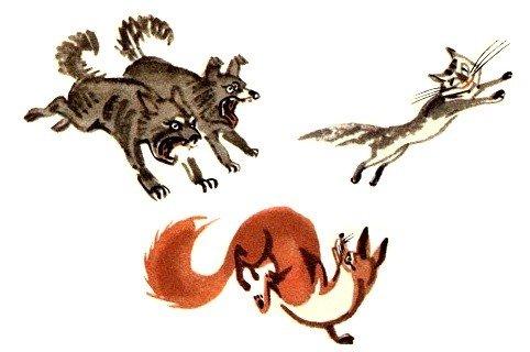 Кошка и лисица - Толстой Л.Н.