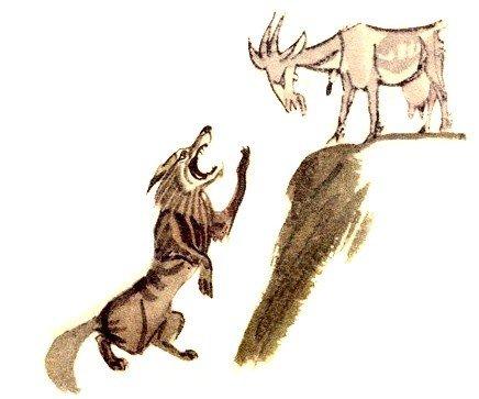 Волк и коза - Толстой Л.Н.