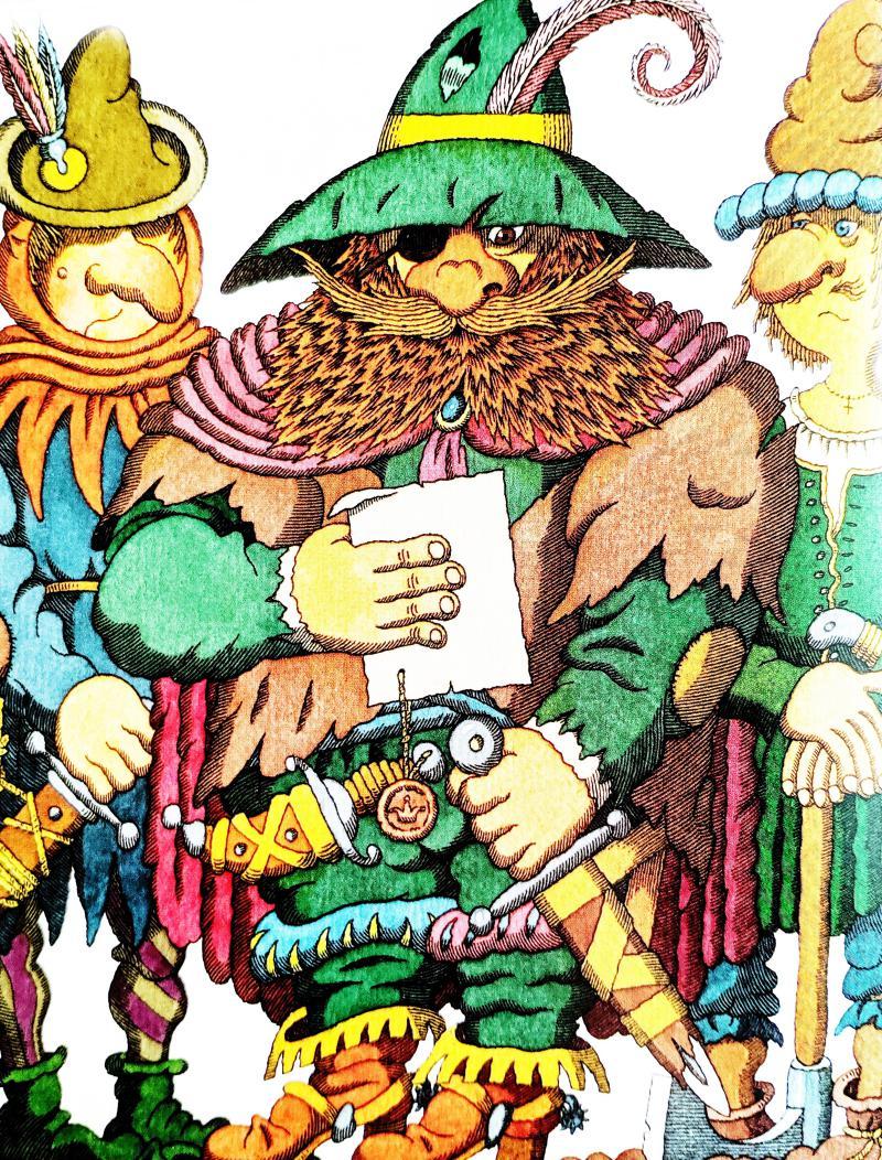 Черт с тремя золотыми волосами - немецкая народная сказка