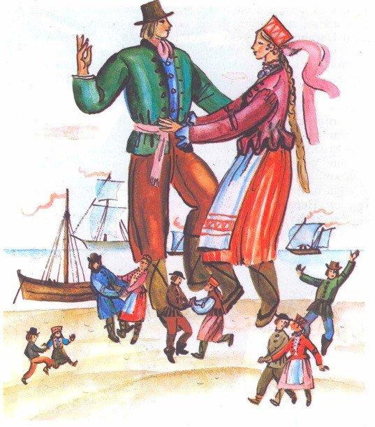 Неринга и Наглис - литовская сказка