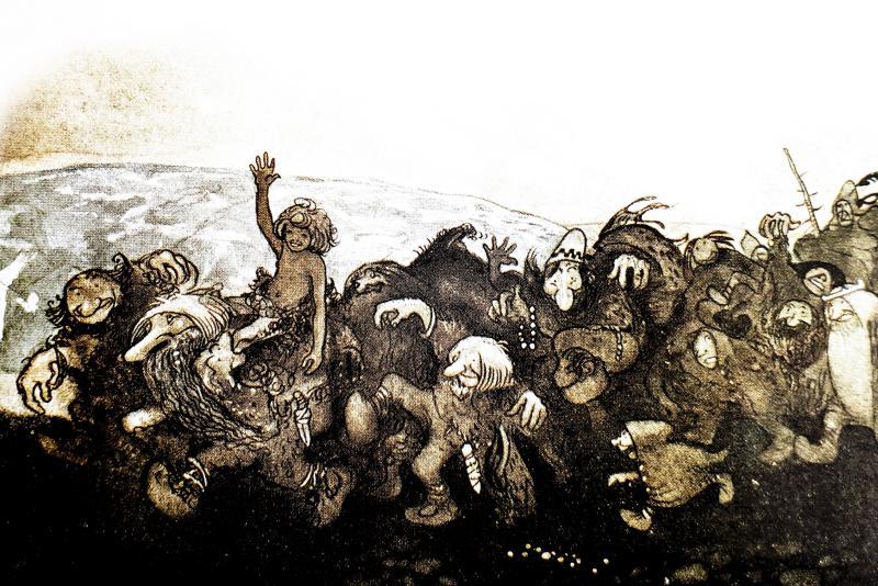 Сказка о четырех больших троллях и маленьком вилле-пастухе - шведская народная сказка