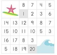 Числовые лабиринты. Изучаем числа от 1 до 20.