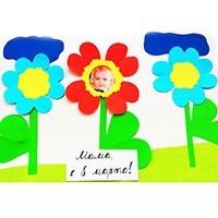Поделки к 8 Марта в садик и школу. Открытки для мамы.